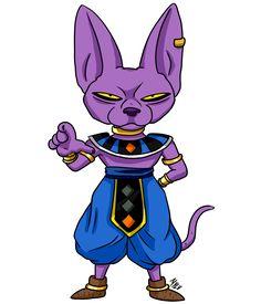 Chibi Beerus Dragon Ball Gt, Dragon Z, Anime Chibi, Kawaii Anime, Figurine Dragon, Desenho Pop Art, Manga Dragon, Character, Arkham Knight