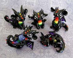 More Baby Rainbow Dragons by DragonsAndBeasties.deviantart.com on @deviantART