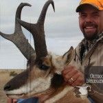 Colorado Antelope Hunts on Private Land in the Eastern Plains - Vinson Drake with a nice Colorado antelope.