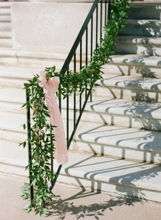 church wedding Pippin Hill Wedding From Easton Events + Jen Fariello Photography Mod Wedding, Floral Wedding, Wedding Flowers, Garland Wedding, Wedding Ceremony, Church Wedding, Wedding Stairs, Wedding Staircase Decoration, Arco Floral