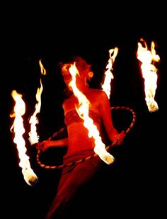 When it gets dark I definitely want to perform with my fire hoop.