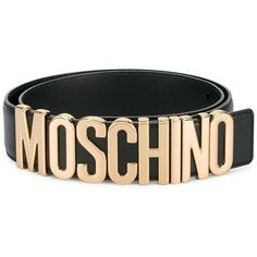 Moschino logo belt ($295) ❤ liked on Polyvore featuring accessories, belts, black, 100 leather belt, moschino belt, moschino, real leather belts and genuine leather belts