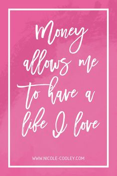 Money Allows Me To Have a Life I Love - Money Affirmations | Budgeting for Beginners | Money Saving Tips | How to Save Money #money #budgeting #finances