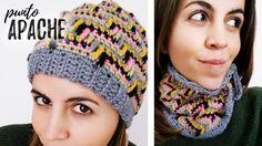 GORRO / CUELLO en PUNTO APACHE a crochet   Ahuyama Crochet