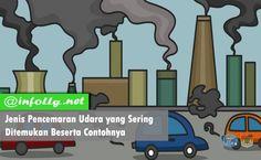 Berikut ini adalah Jenis Pencemaran Udara yang Sering Ditemukan Beserta Contohnya terlengkap. Udara bersih adalah udara yang mengandung banyak... Sedangkan udara kotor atau tercemar adalah udara yang banyak mengandung zat-zat... Jenis pencemaran udara dapat dikategorikan menjadi...