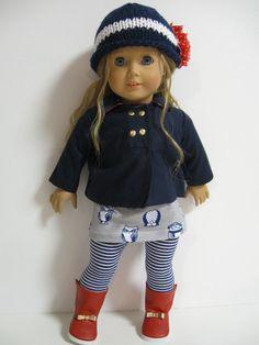 American Girl Doll Back to School Owls par 123MULBERRYSTREET, $36.00
