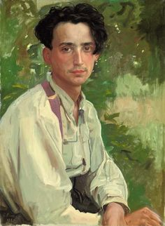 Portrait of  Vladimir Aleksandrovich Somov by Konstantin Andreyevich Somov, Russian painter