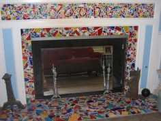 1000 Images About Fireplace Ideas On Pinterest Tile Fireplace Mexican Tiles And Fireplaces