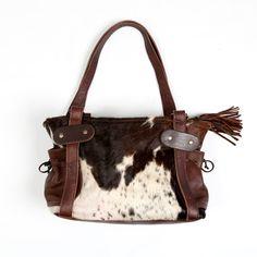 7e905439d Zulucow Nguni cowhide leather shoulder bag brown and white fashion bag  women accessories handbags Cowhide Bag