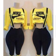 Nike reworked set (suspenders) is sold separately.. #custom #reworked #ootd #designer #sports #nike #justdoit #streetwear