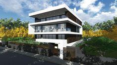3 level housing building Diplomatenviertel Frankfurt am Main Germany