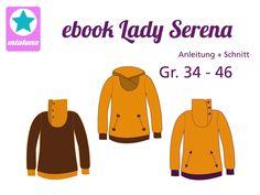 Nähanleitung und Schnittmuster Hoodie Lady Serena 34-46 - Schnittmuster und Nähanleitungen bei Makerist