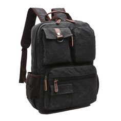 Canvas Backpack,TEERFU Mens Womens Retro Vintage Casual Book Bag Sports Daypack Rucksack Hiking Bag Canvas Shoulder bag ^^ Additional details at the pin image, click it  : Backpacking gear