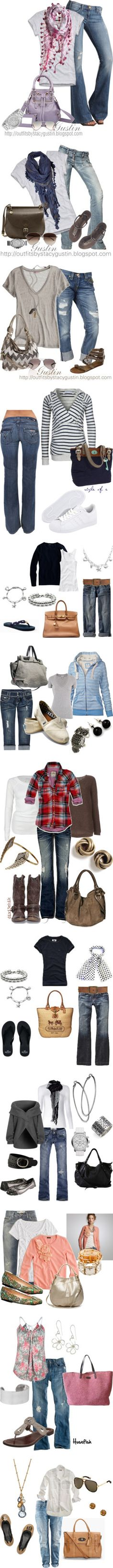 """Casual jean outfits"" by islandktty on Polyvore"