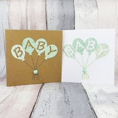 Gender neutral new baby card, Handmade team green baby card, Congratulations card with balloons, Maternity leave card, Pregnancy card Birthday Card With Name, Birthday Cards, Birthday Gifts, Elephant Baby Boy, New Baby Cards, Gender Neutral Baby, Congratulations Card, Birthday Balloons, Greeting Cards Handmade