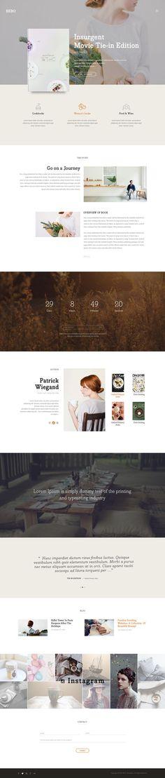 BEBO - Book's Landingpage PSD - PSD Templates | ThemeForest
