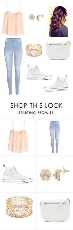 """""""untitled"""" by marilyng341 ❤ liked on Polyvore featuring H&M, Converse and Forever 21"""