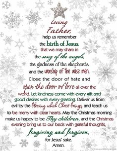 Christmas Prayer Dear God, Help Us Remember The Birth Of Jesus that we may share in the song of the angels - Quotes Christmas Prayer, Christmas Poems, Christmas Program, Christmas Blessings, Meaning Of Christmas, Christmas Traditions, All Things Christmas, Christmas Holidays, Christmas Crafts