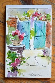 Dreama Tolle Perry » Artist and Writer » A Taste of Watercolor in France