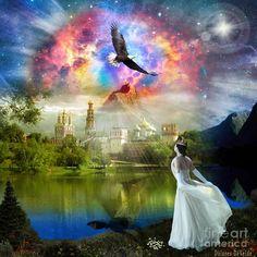 Bride Of Christ Eagle Kingdom Of Heaven Portal Prophetic Holy Jesus  Digital Art - Infinite Love by Dolores Develde