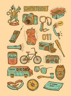 Stranger Things icon series.