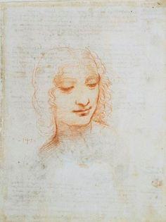 The head of a woman, Leonardo da Vinci, Royal Collection Trust