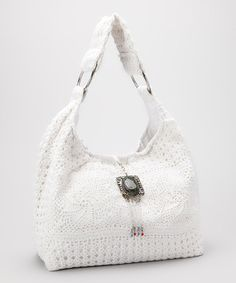 Take a look at this Ivory Crocheted Hobo by RICKI DESIGNS on #zulily today!