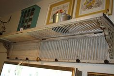 Love this shelf made from old shutters