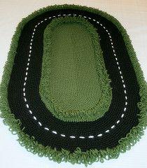 Made By Cynthia Rae: Racetrack Rug Crochet Pattern
