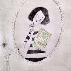 Selfie allo specchio #flowmagazineday #flowinitaliano #flowmagazine #me#ceciliacavallini #illustrazione #illustrationgram