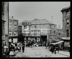 The Old Haymarket, Leicester city centre: Lantern slide, Leicestershire Record Office