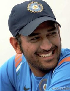 India's Captain Cool Mahendra Singh Dhoni. Get his stunning pictures on http://mocricket.com/