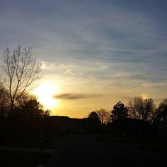 Twilight sky #sky #clouds #sunset