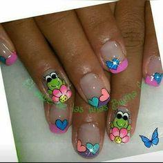 Spring Nails, Summer Nails, French Nails, Beauty Nails, Pedicure, Nail Art Designs, Acrylic Nails, Nail Polish, Ideas