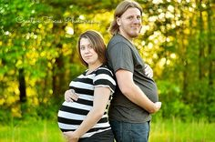 """The """"my husband is pregnant too"""" pose. 