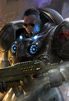 Futuristic Warrior, Cyberpunk, Future, Armor, Military, Sci-Fi