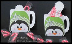 """Penguin Cocoa Mug - cut file at My Scrap Chick, """"Snowman Cocoa"""""""