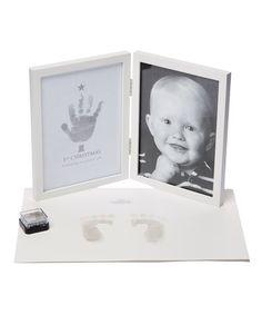 Another great find on #zulily! White Handprint Frame #zulilyfinds