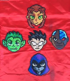 Teen Titans Bead Sprites set of 5 by PrettyPixelations on Etsy