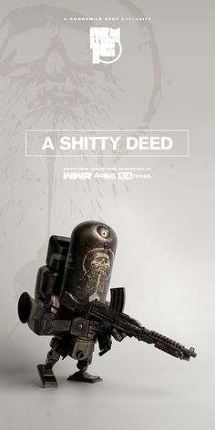 The sixth release from the series serialized in Month Hobby JAPAN, 'WWR THE SHITTY 9'. DREAD DEED ARMSTRONG 1G - MEMBER EIGHT SHITTY 9 available for pre-order now at Exclusively at THE GOODSMILE SHOP! Details here: http://www.worldofthreea.com/threea-production-blog/5pztydg78t2z5n3kg8znp9db5pzp3k #threeA #AshleyWood #AshleyWoodArt #WorldOf3A #WO3A #WWR #WWRp #WorldWarRobot #TheShitty9 #Shitty9 #GoodSmileCompany