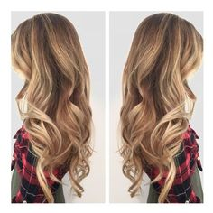 Fall blonde hair. Melting with cool and warm blondes. Hair done by... ❤ liked on Polyvore featuring accessories, hair accessories and hair