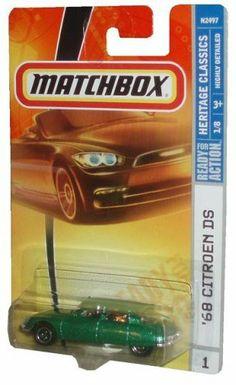 Mattel Matchbox 2007 MBX Heritage Classics 1:64 Scale Die Cast Metal Car # 1 - Metallic Green 4 Door Sedan 1968 Citroen DS by Mattel. $5.95. MATCHBOX DIE-CAST METAL 1:64 SCALE. Citroen DS 1968 Green. Rare discontinued !. Citroen DS Green 1968