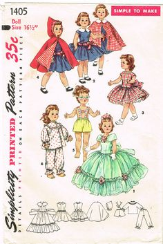 "DOLL DRESS fits 12/"" Shirley Temple /& 13/"" swivel Wendy Ann Navy /& white cotton"