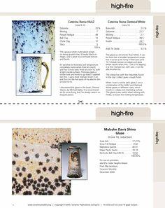 15 tried & true cone 10 glaze recipes. Recipe cards for our favorite high fire pottery glazes. www.ceramicartsdaily.org