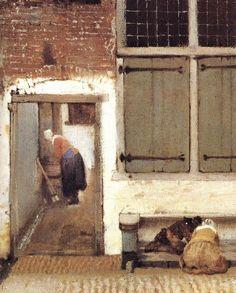 Jan Vermeer Van Delft | The Little Street (detail) wt VERMEER VAN DELFT, Jan Open picture USA ...