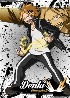 Denki Kaminari is from Boku no Hero Academia Denki Kaminari is a student at U. High School training to become a Pro Hero. Denki is. My Hero Academia Memes, Buko No Hero Academia, Hero Academia Characters, My Hero Academia Manga, Anime Characters, Human Pikachu, It Movie 2017 Cast, Deku Anime, Hero Wallpaper