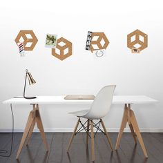 Roll + Pin Cork Pinboard. ROLL + PIN 3-metre / 10' roll of natural cork will turn almost any surface into a stylish cork pin board.