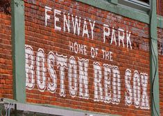 Boston Red Sox Fenway Park Photograph Painted Brick Iconic Sign - 5x7 matted to 8x10 ready to frame on Etsy, $15.00