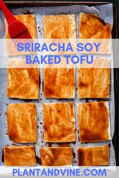 Healthy vegan sriracha tofu recipe that is perfect for bowls, stir fries, or paired with your favorite veggies. marinated in soy sauce and sriracha and then Tofu Recipes, Vegan Recipes Easy, Wine Recipes, Vegetarian Recipes, Snack Recipes, Vegan Vegetarian, Vegan Food, Paleo, Vegan Breakfast Recipes