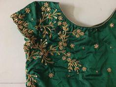 Kerala Saree Blouse Designs, Wedding Saree Blouse Designs, Best Blouse Designs, Maggam Work Designs, Designer Blouse Patterns, Kurti Neck Designs, Work Blouse, Embroidery Works, Machine Embroidery